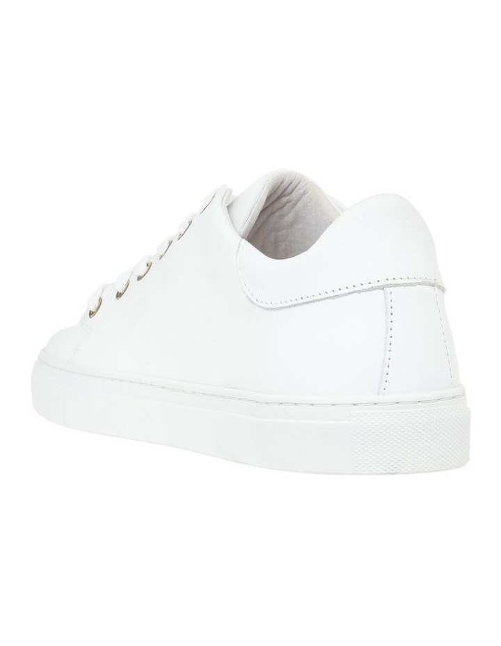 White Leather Sneaker with Gold Logo image 2