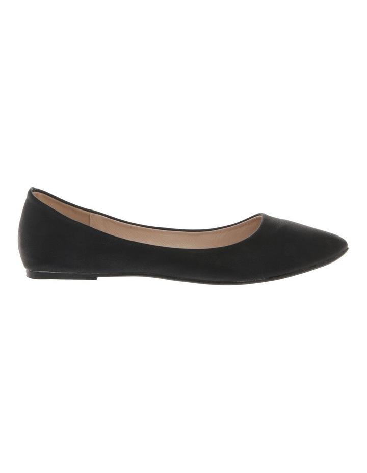 Renato Black Smooth Flat Shoes image 1