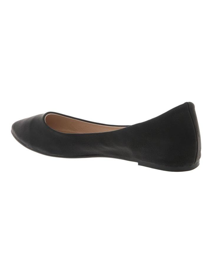 Renato Black Smooth Flat Shoes image 2
