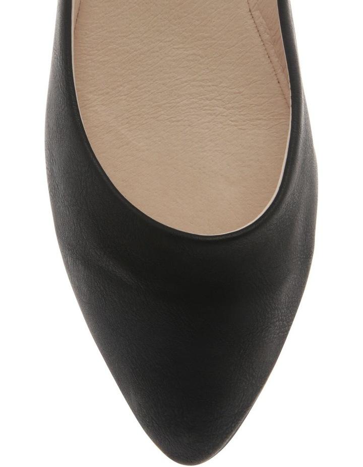 Renato Black Smooth Flat Shoes image 3