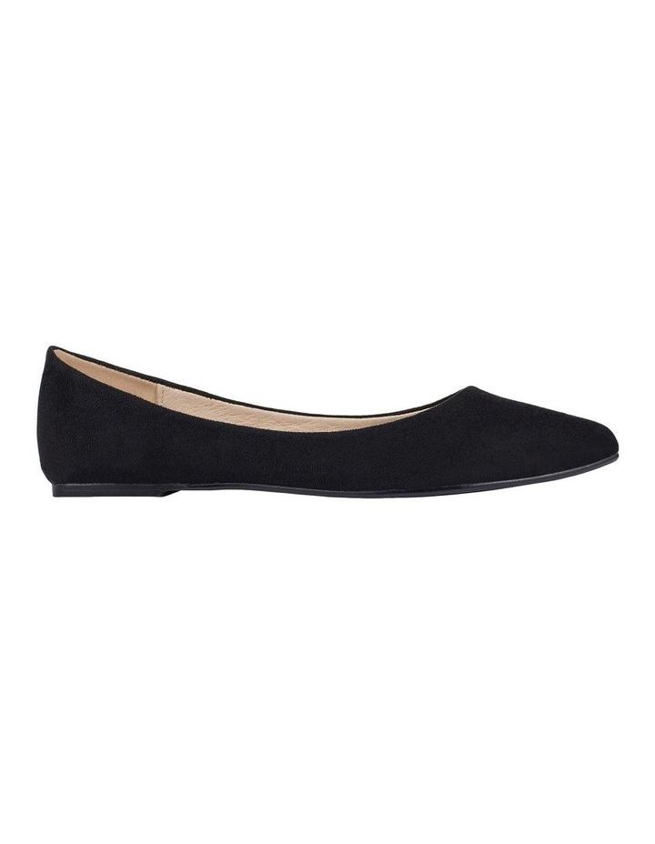 Renato Black Micro Flat Shoes image 1