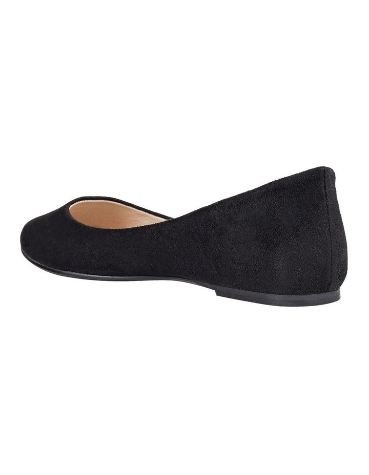 Renato Black Micro Flat Shoes image 2