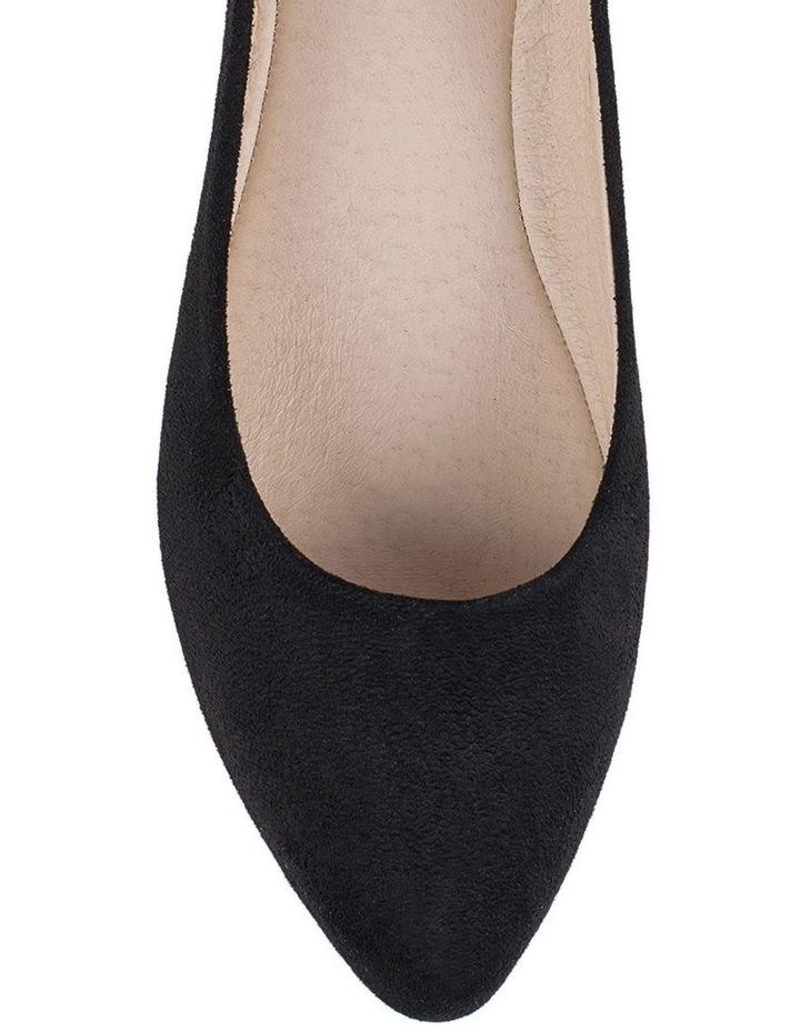 Renato Black Micro Flat Shoes image 3