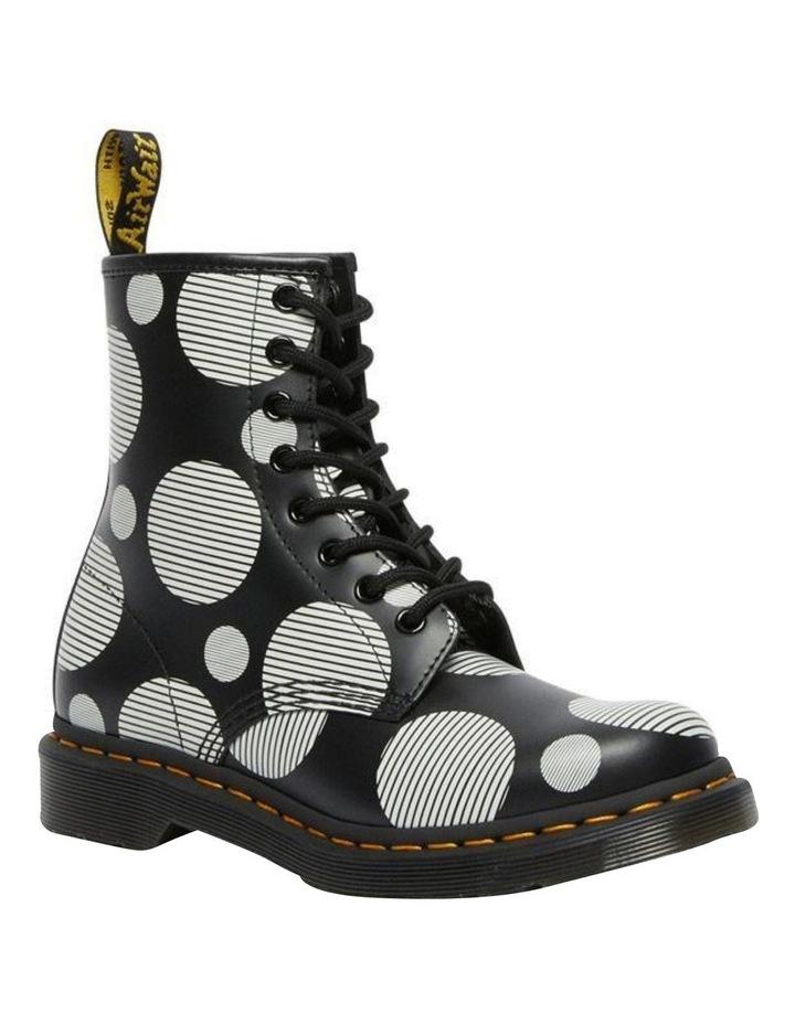 1460 Black White Polka Dot Boot image 1