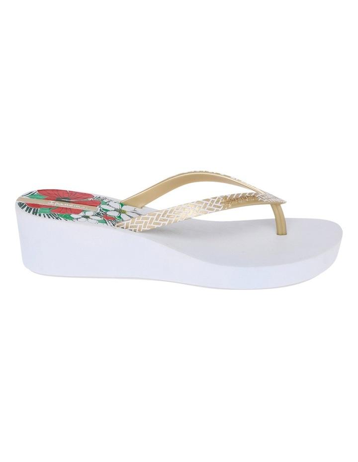 Art Deco 11 White/Gold Sandal image 1