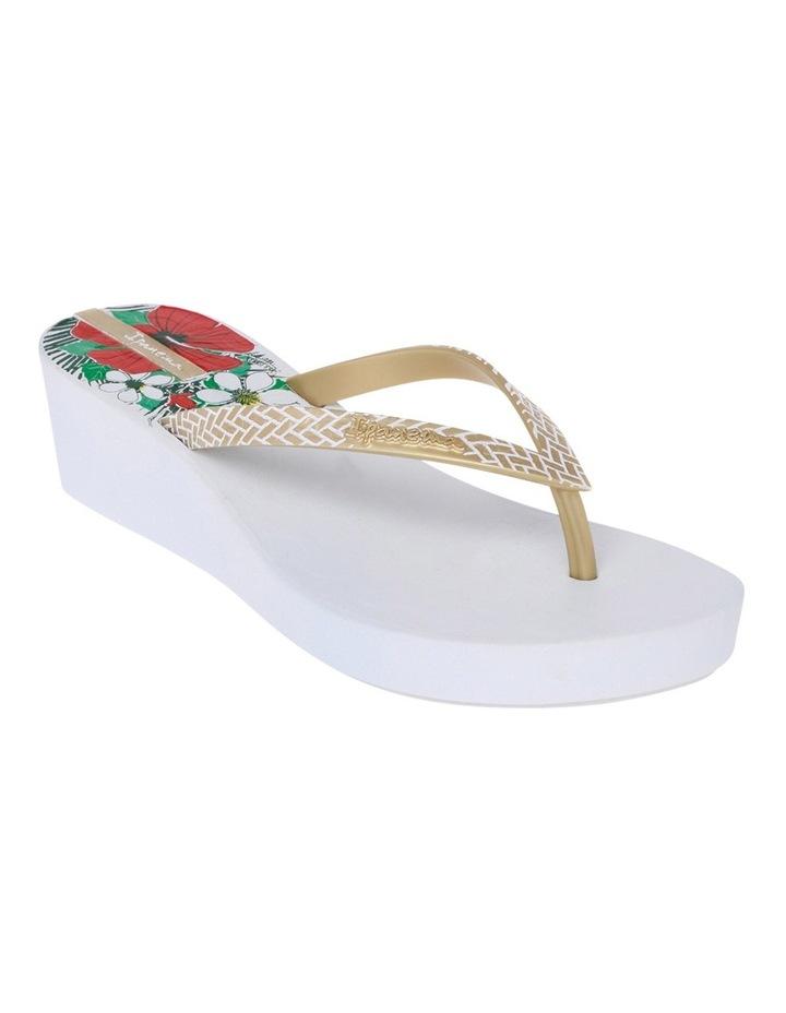 Art Deco 11 White/Gold Sandal image 2
