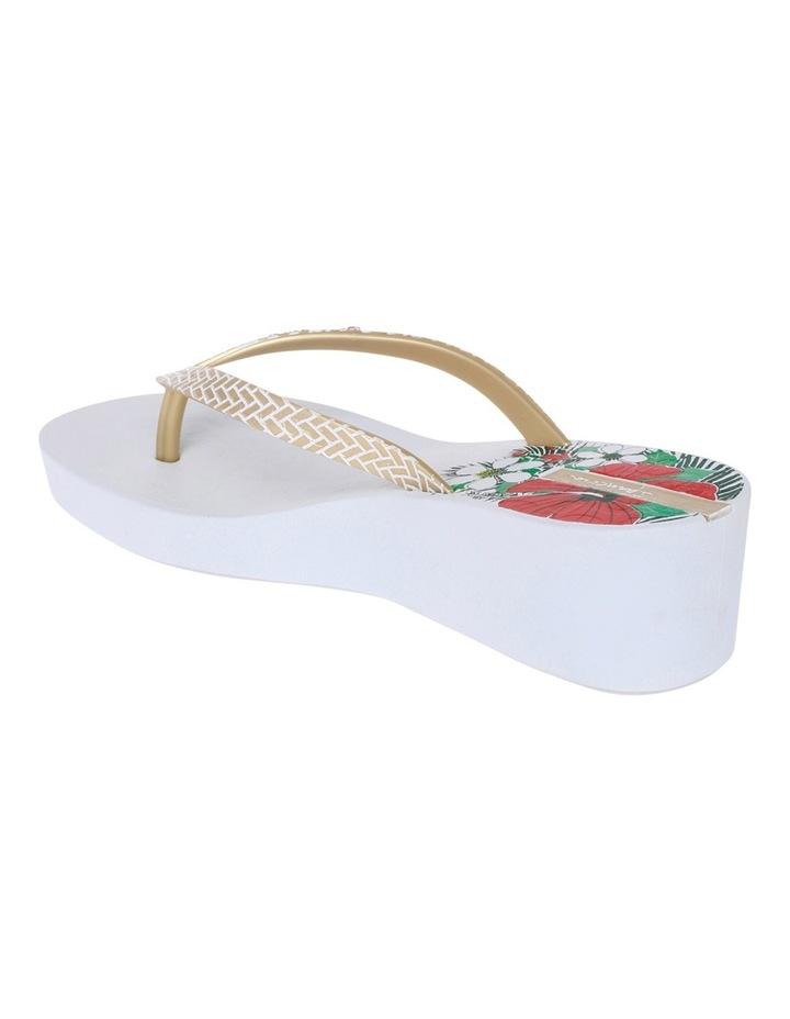 Art Deco 11 White/Gold Sandal image 3