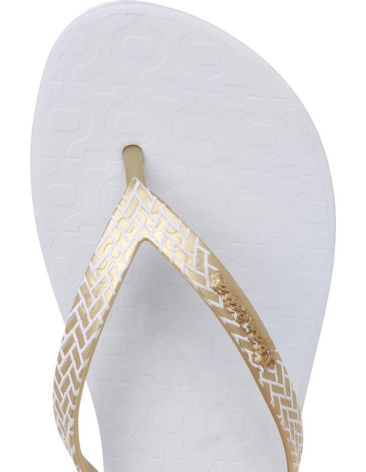 Art Deco 11 White/Gold Sandal image 4