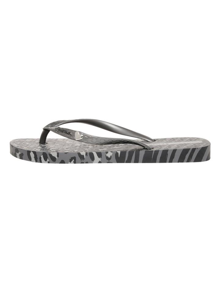 Animal Print Black/Silver Sandal image 1