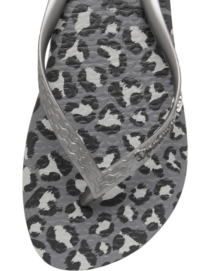 Animal Print Black/Silver Sandal image 2
