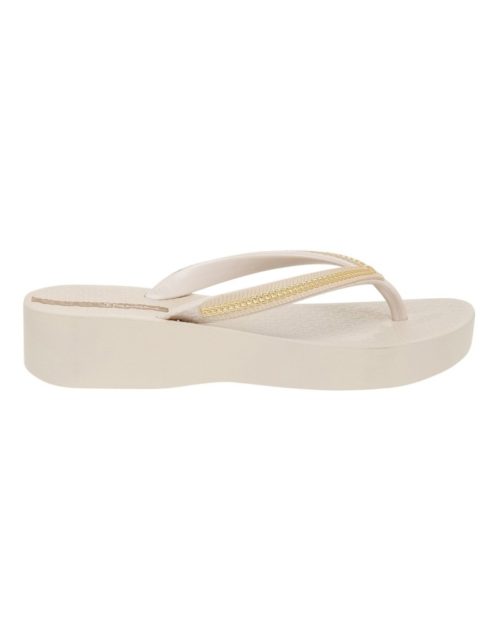 Metallic Wedge Beige Sandal image 1