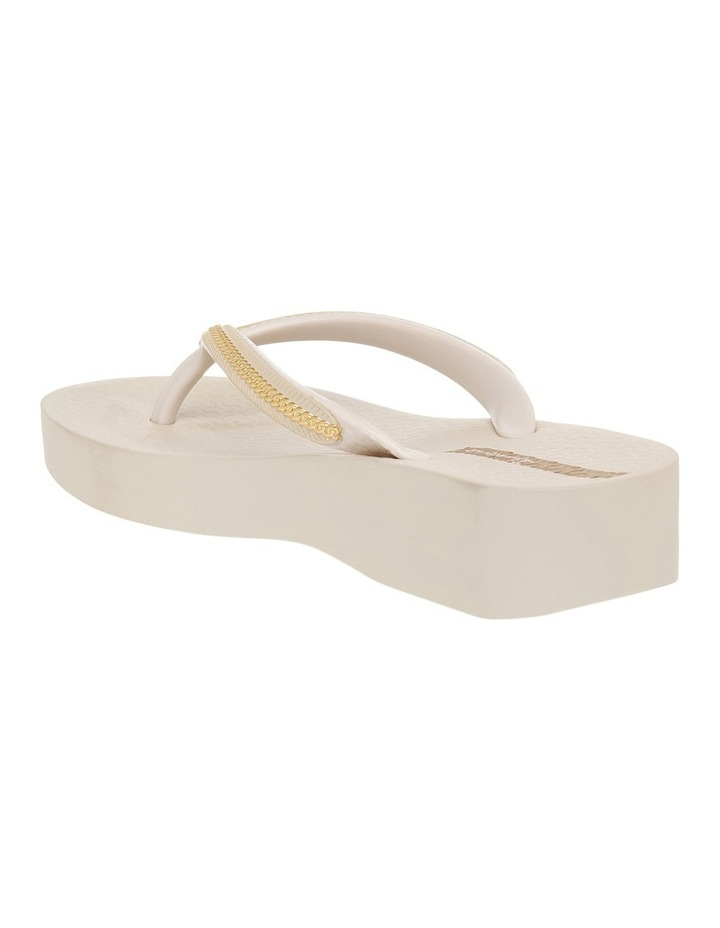 Metallic Wedge Beige Sandal image 2
