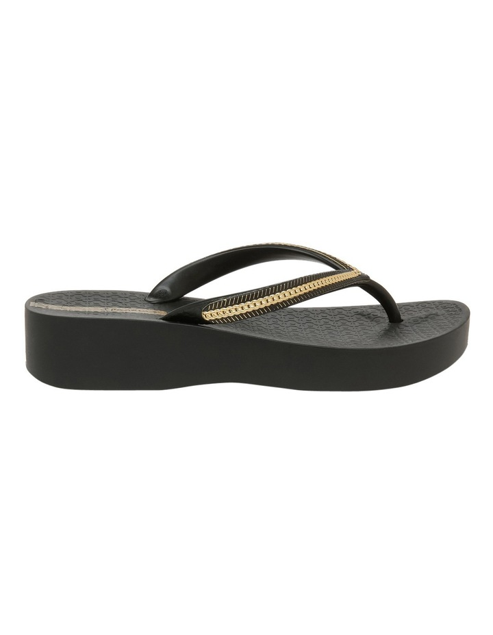 Metallic Wedge Black Sandal image 1