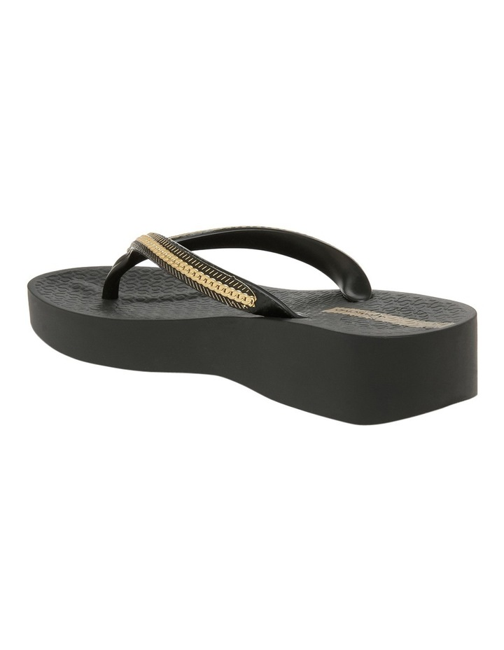 Metallic Wedge Black Sandal image 2
