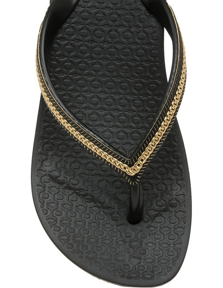 Metallic Wedge Black Sandal image 3