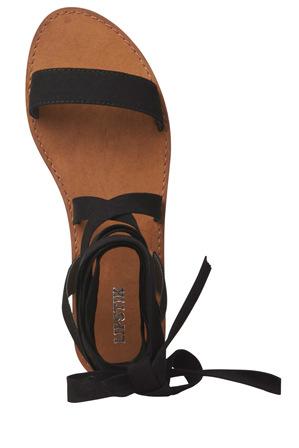 Lipstik - Bills Black Micro Sandal