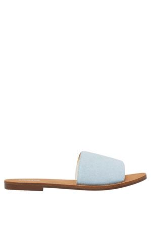 Lipstik - Bernadette Denim Fabric Sandal