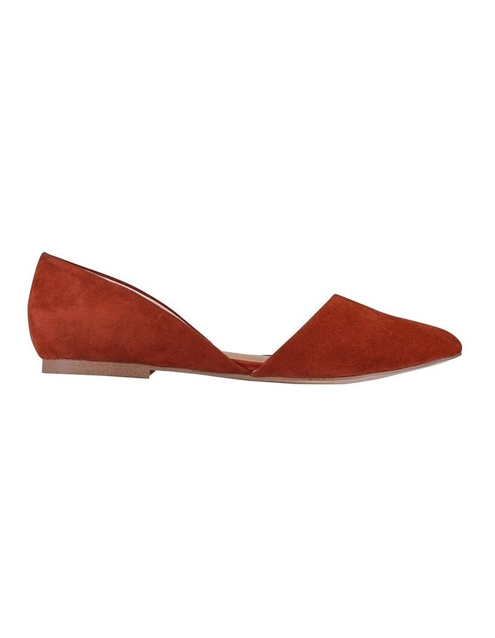 Rake Rust Suede Flat Shoes image 1
