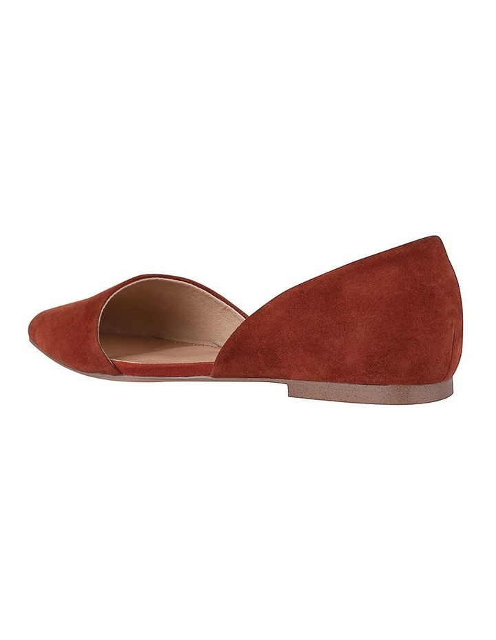 Rake Rust Suede Flat Shoes image 2