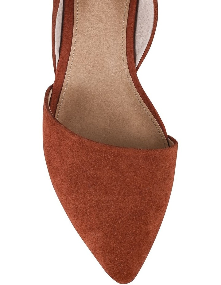 Rake Rust Suede Flat Shoes image 3