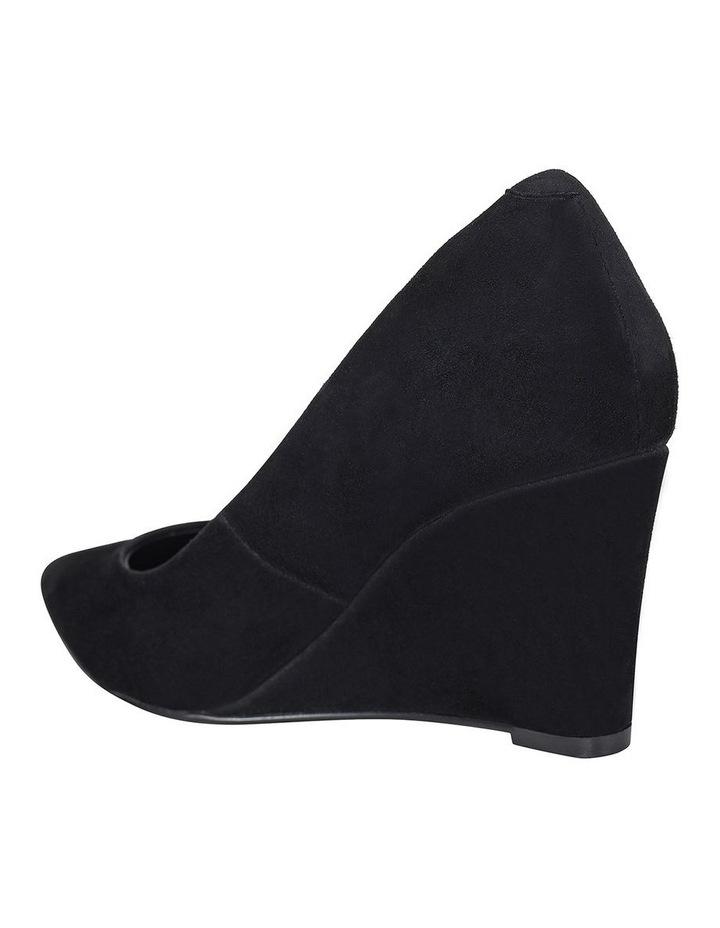 Brodie Black Suede Heeled Shoes image 2