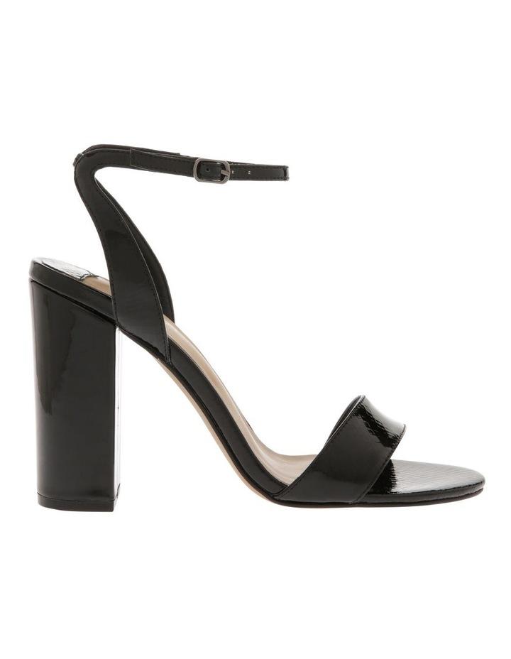 Kuwait Black Patent Reptile Sandal image 1