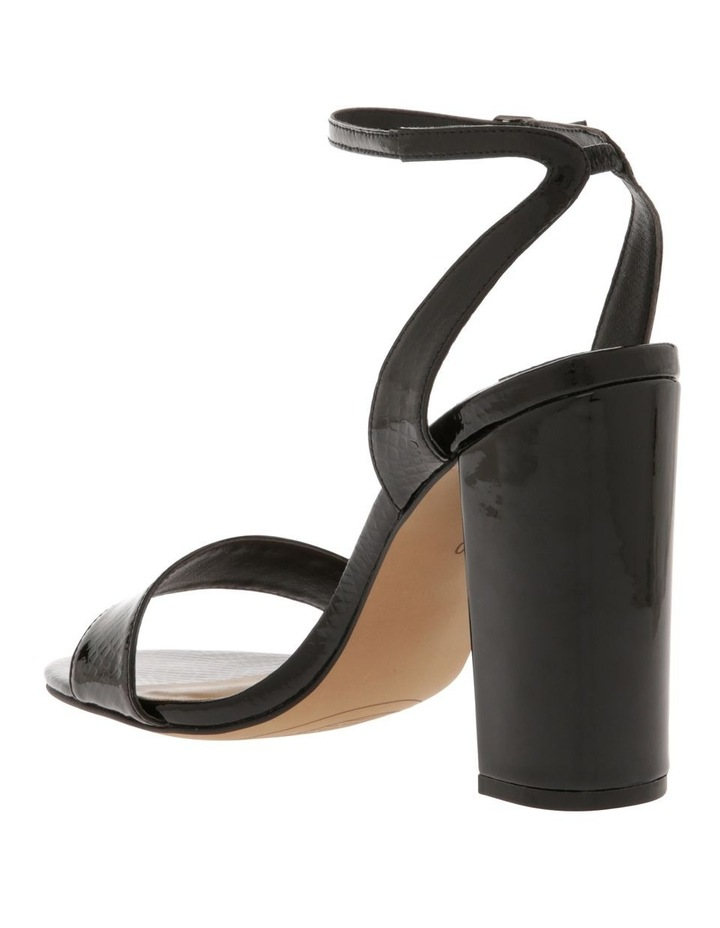 Kuwait Black Patent Reptile Sandal image 2