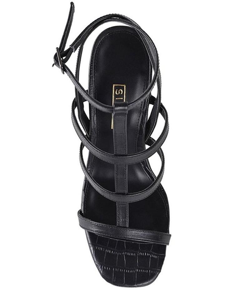 Kristy Black Croc Sandal image 3