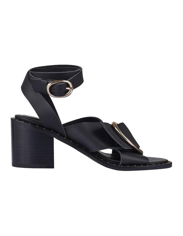 Gabriel Black Leather Sandal image 1