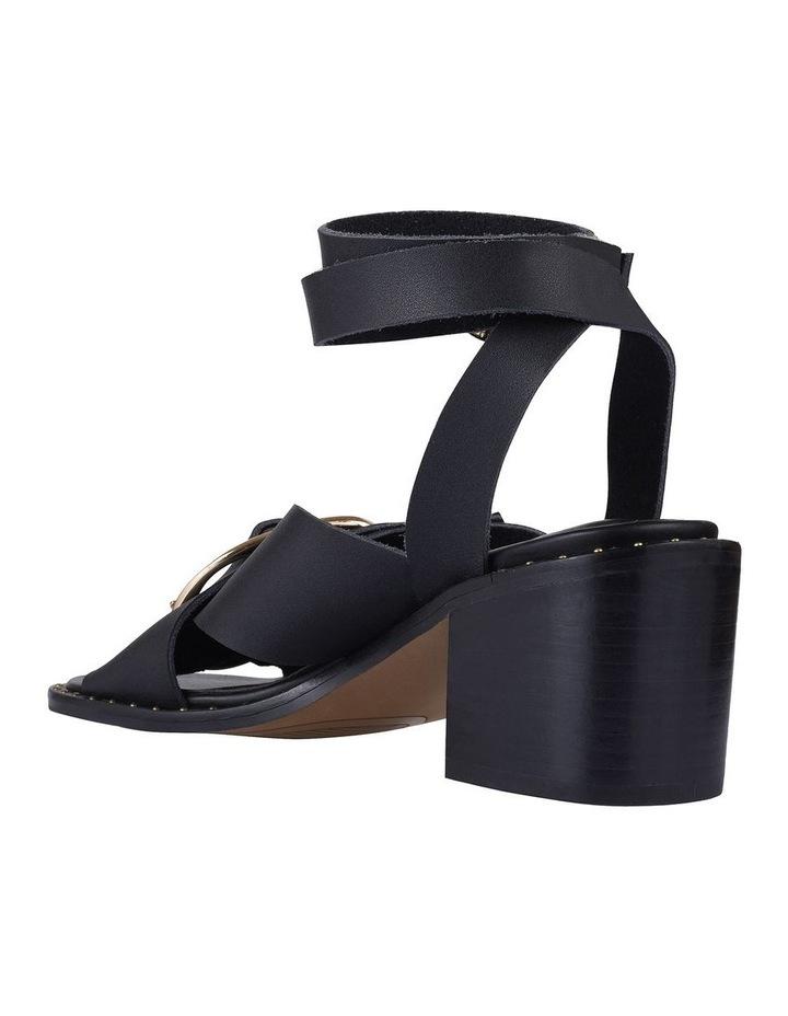 Gabriel Black Leather Sandal image 2