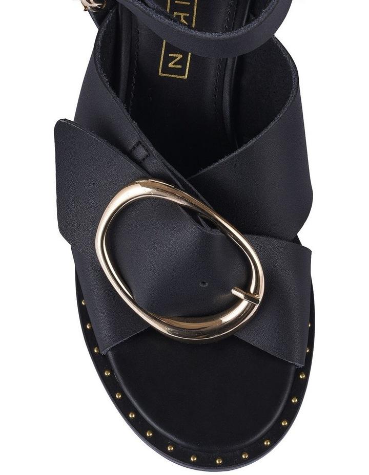 Gabriel Black Leather Sandal image 3