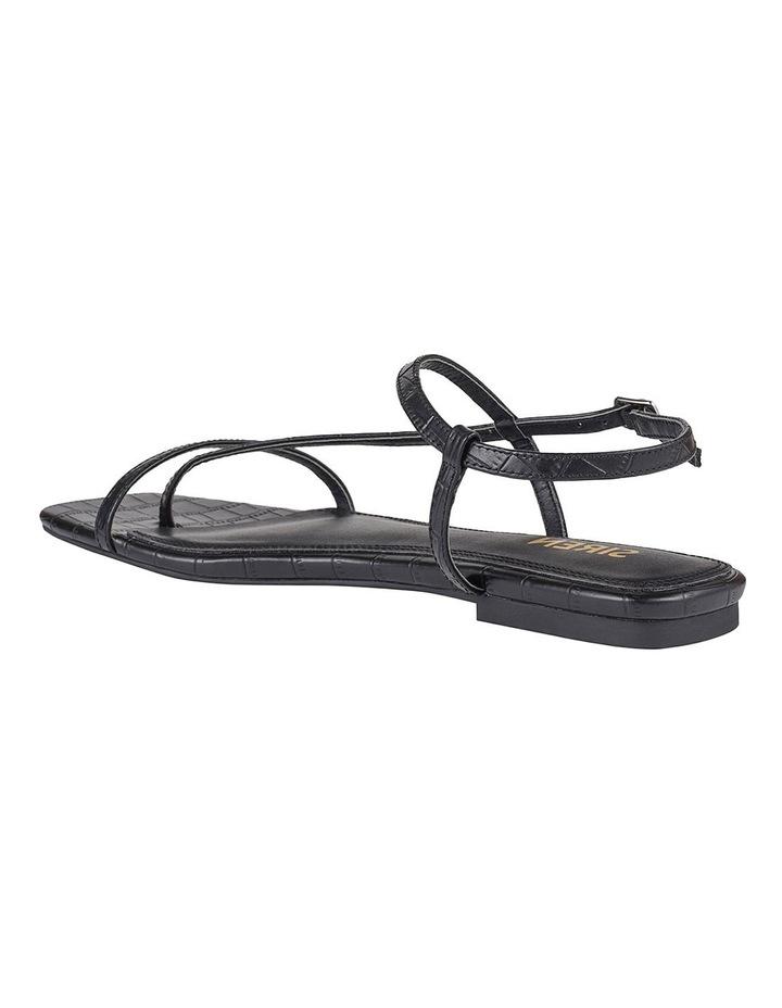 Sahara Black Croc Sandal image 4