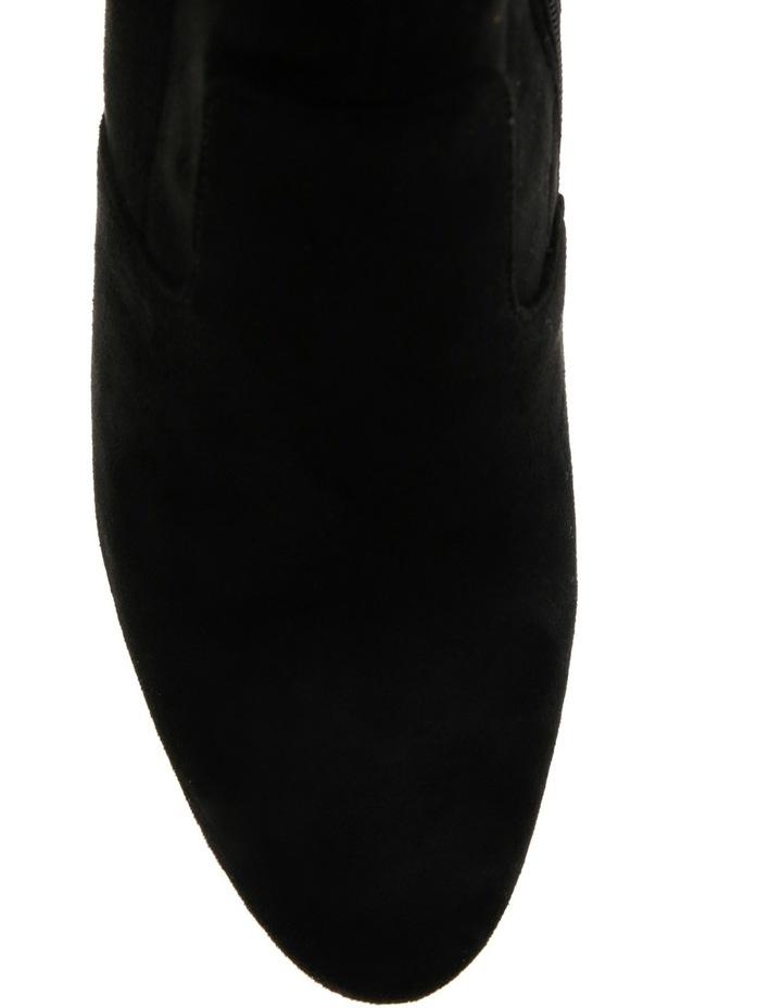 Editt Black Microsuede Boot image 4