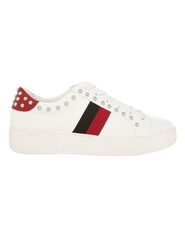 Belle White With Red And Black Sneaker image 1