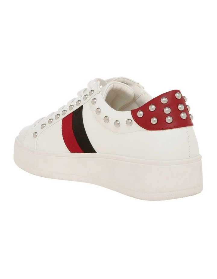 Belle White With Red And Black Sneaker image 2