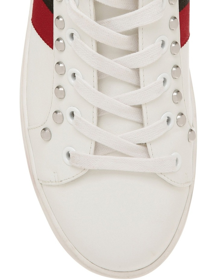 Belle White With Red And Black Sneaker image 3