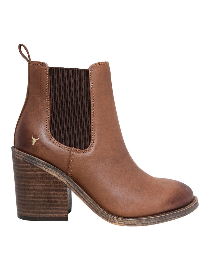 Marcy Tan Leather Boot image 1