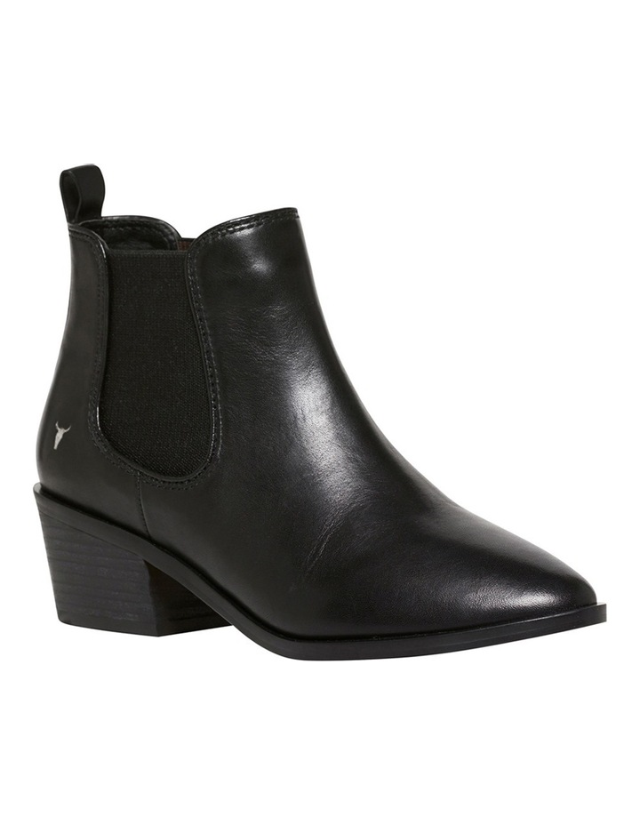 Jordy Black Leather Boot image 2