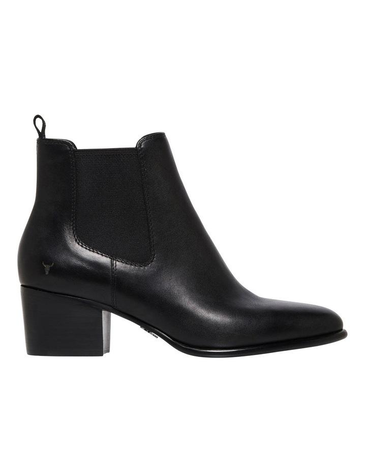Carmen Black Heeled Ankle Boot image 1