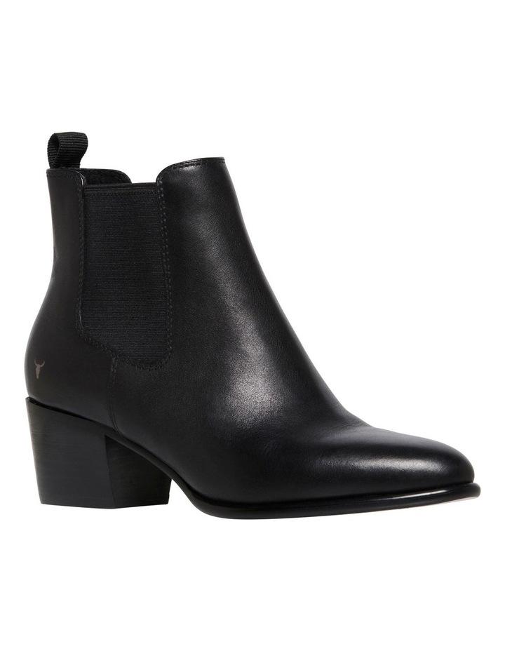 Carmen Black Heeled Ankle Boot image 2