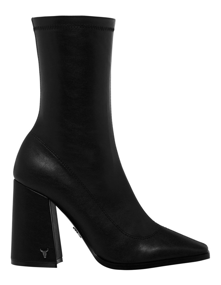 Swoon Black Stretch PU Boot image 1