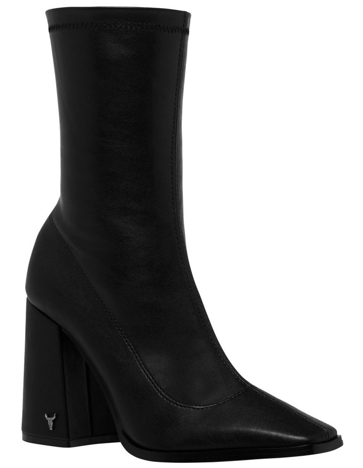 Swoon Black Stretch PU Boot image 2