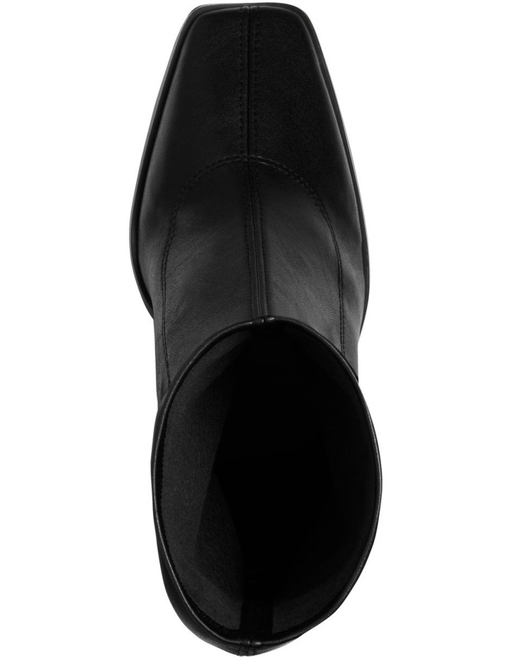 Swoon Black Stretch PU Boot image 3