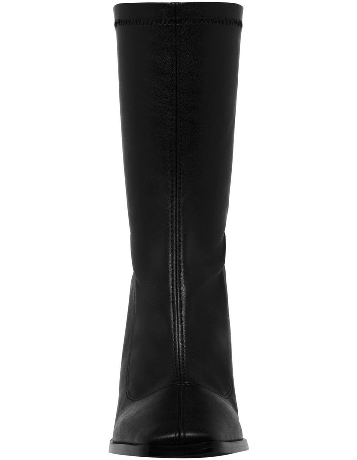 Swoon Black Stretch PU Boot image 4