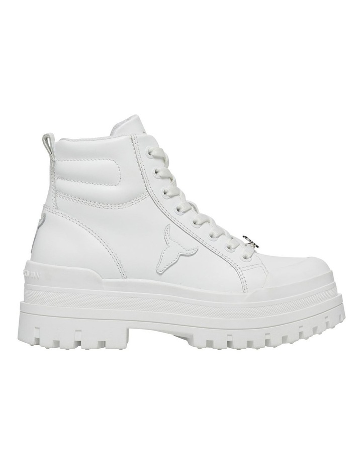 Disaster White Leather Boot image 1