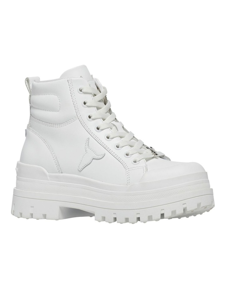 Disaster White Leather Boot image 2