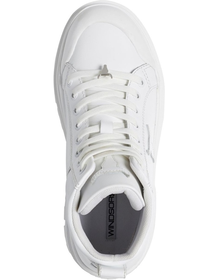 Disaster White Leather Boot image 3