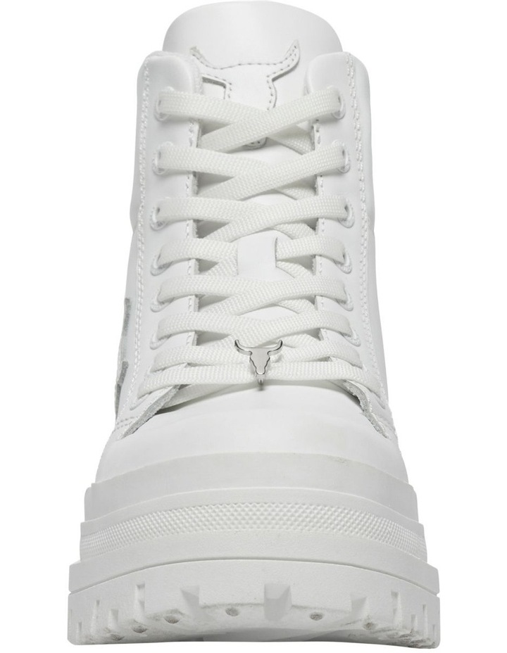 Disaster White Leather Boot image 4