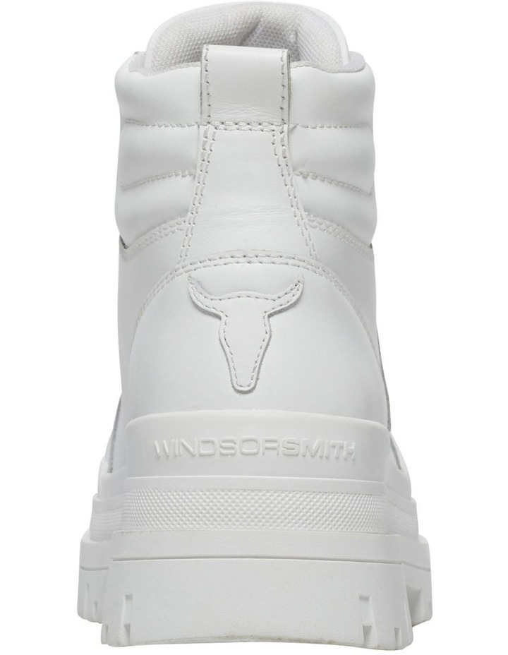 Disaster White Leather Boot image 5