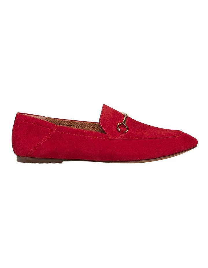 Dani Crimson Red Suede Loafer image 1